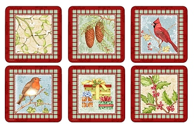 Pimpernel Christmas Sentiments Coaster Set (Set of 6)