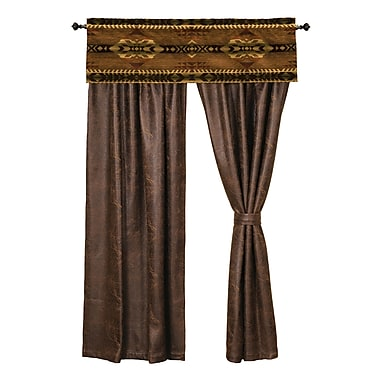 Wooded River Stampede Single Curtain Panel