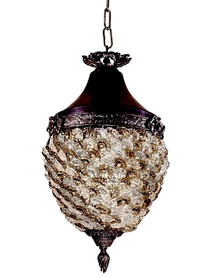 Dale Tiffany Glass Flower Hanging 1-Light Mini