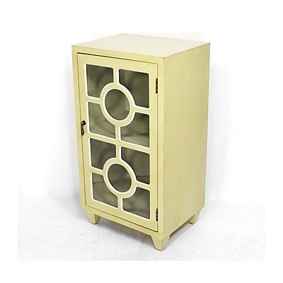 Heather Ann Wooden Accent Cabinet w/ 1 Door; Yellow