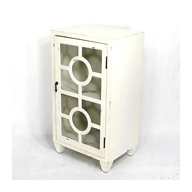 Heather Ann Wooden Accent Cabinet w/ 1 Door; White