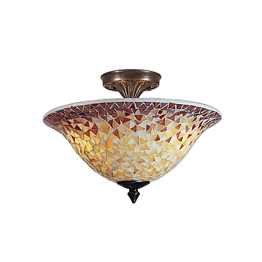 Dale Tiffany Cassidy Mosaic 3-Light Flush Mount