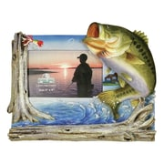 River's Edge Products 4'' x 6'' Bass Picture Frame