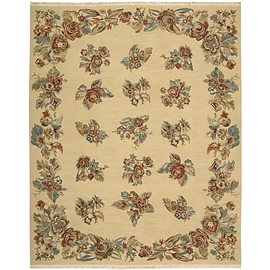 Nourison Nourmak Encore Hand-Woven Light Gold Area Rug; 7'9'' x 9'9''