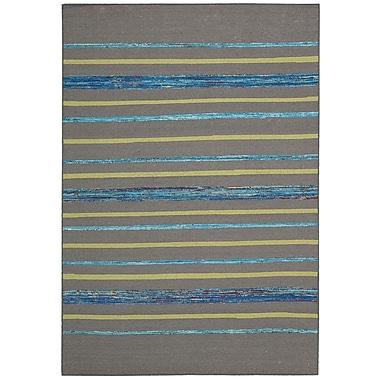 Nourison Spectrum Gray Turquoise Rug; 3'9'' x 5'9''