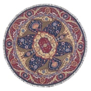 Nourison Nourmak Hand-Woven Red/Blue Area Rug; Round 8'