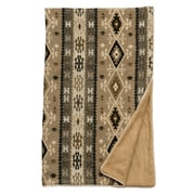 Wooded River Mountain Storm Fawn Suede Throw