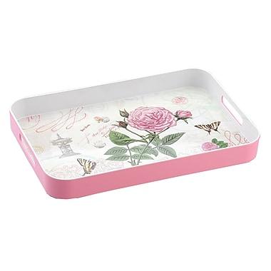Shall Housewares Rose Rectangular Serving Tray