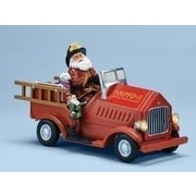 Roman, Inc. Mus Lighted Firetruck w/ Santa Figurine