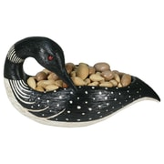 River's Edge Products Loon Candy Divided Candy / Nut Bowl
