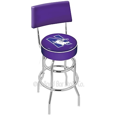 Holland Bar Stool NCAA 25'' Swivel Bar Stool; Northwestern University