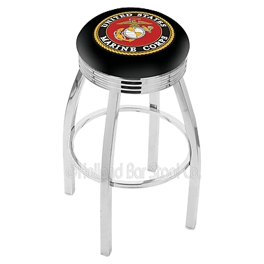 Holland Bar Stool US Armed Forces 25'' Swivel Bar Stool; Marines
