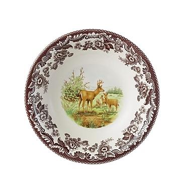 Spode Woodland 8'' Mule Deer Ascot Cereal Bowl