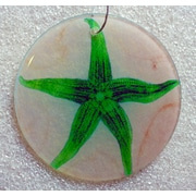 Radiant Art Studios X-ray Designs Starfish Frosted Glass Ornament
