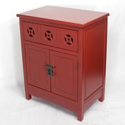 Heather Ann Wooden Cabinet w/ 1 Drawer and 2 Doors