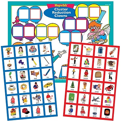 Super Duper Publications SAS129 MagneTalk Cluster Reduction Clowns Board Game