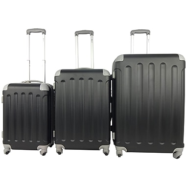 McBRINE Eco Friendly 3-Piece Luggage Set, Black