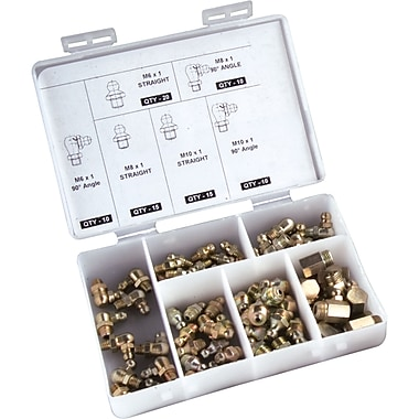 Aurora Tools Grease Fitting Sets, 80-Piece, Metric