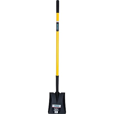 Aurora Tools Standard-Duty Square Shovel, Straight Handle
