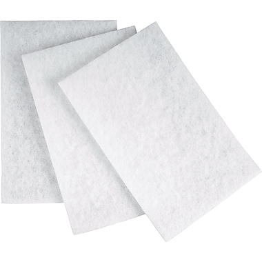 Aurora Tools Hand Pads, White, Non-abrasive, 20/Pack