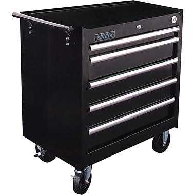 Aurora Tools Tool Box with Cart, 5 Drawers