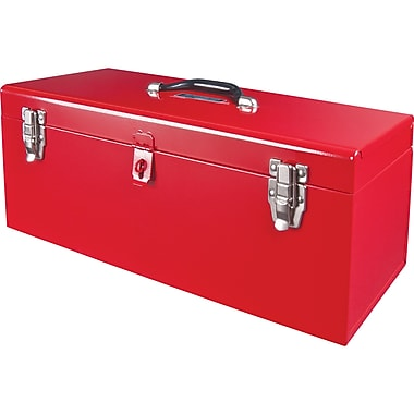 Aurora Tools Portable Tool Box with Metal Tool Tray