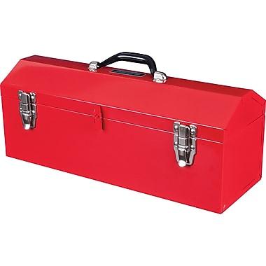 Aurora Tools - Boîte à outils portative en métal avec couvercle et plateau à outils, 20 po