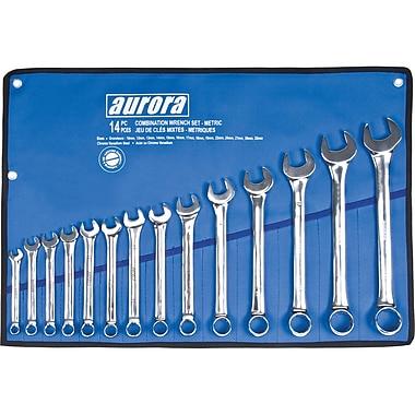 Aurora Tools – Ensemble de clés à combinaison, mesures métriques, 14 pièces