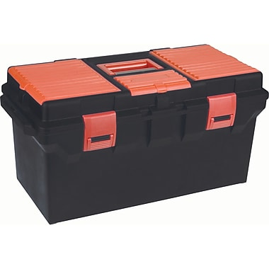 Aurora Tools Heavy-Duty Tool Boxes With Inner Tray, 2 Organizers, 22