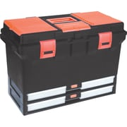 Aurora Tools Heavy-Duty Tool Boxes With Inner Tray, 3 Organizers, 2 Drawers, 22""