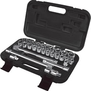 Aurora Tools Drive S.A.E./Metric Socket Set, 29-Piece, 1/2""