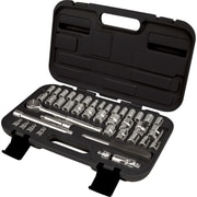 "Aurora Tools Drive S.A.E./Metric Socket Set41-Piece, 1/4"" and 3/8"""