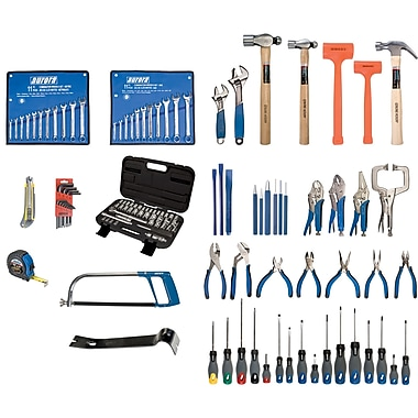 Aurora Tools Intermediate Tool Set with Steel Chest, 112-Piece