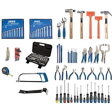 Aurora Tools – Ensemble d'outils de rechange avec coffret en acier, 112 pièces