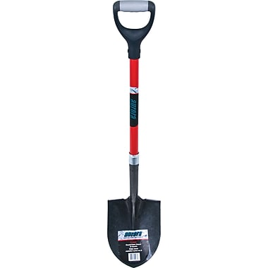 Aurora Tools Heavy-Duty Round Point Shovel, D-Grip Handle