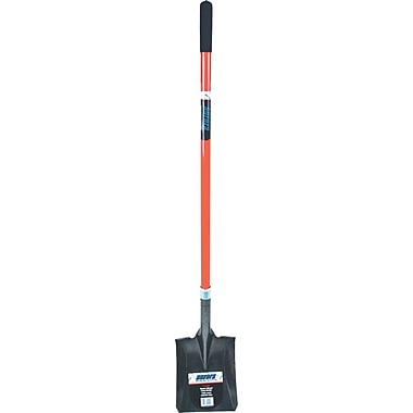 Aurora Tools Heavy-Duty Square Shovel, Straight Handle