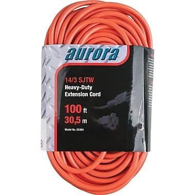 Aurora Tools Outdoor Vinyl Extension Cords, Heavy-Duty, 100'