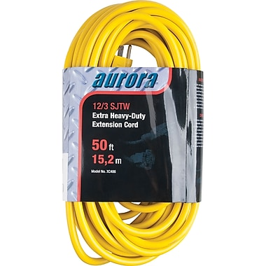 Aurora Tools Outdoor Vinyl Extension Cords, Extra Heavy-Duty, 50'