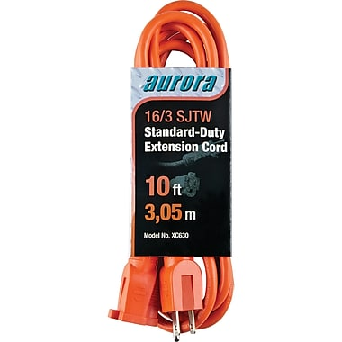 Aurora Tools Indoor/Outdoor Extension Cords, Standard-Duty, 10'