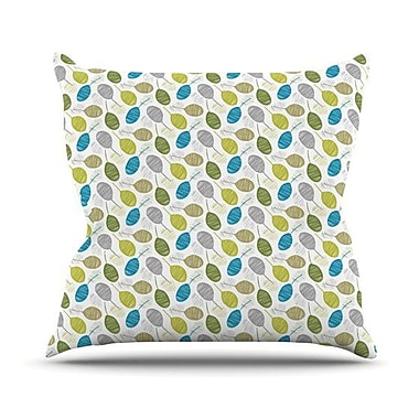 KESS InHouse Tangled Teal Outdoor Throw Pillow; 20'' H x 20'' W x 4'' D