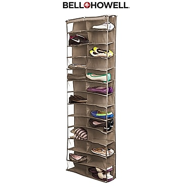 Bell+Howell Over the Door Shoe Organizer, 26 pairs- Cream