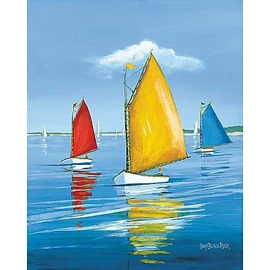 Printfinders Newport Regatta by Sally Caldwell Fisher Painting Print on Wrapped Canvas