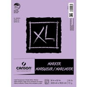 Canson Glue Bound Marker Pad (100 Sheet); 9'' H x 12'' W