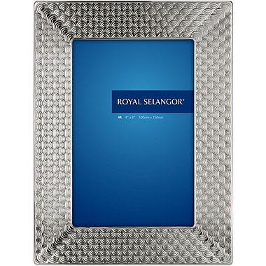 Royal Selangor Mirage Wave Picture Frame; 4'' x 6''