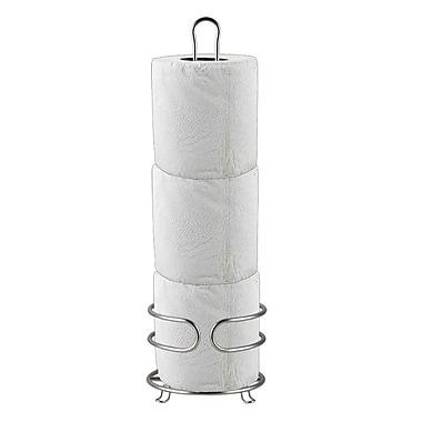 Home Basics Free Standing Bath Tissue Reserve; Satin Nickel