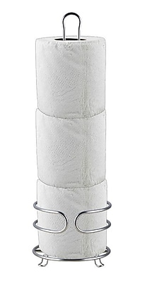 Home Basics Free Standing Bath Tissue Reserve; Chrome