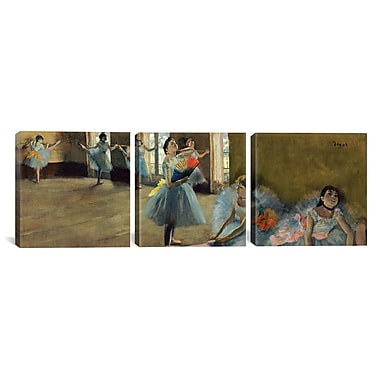 iCanvas Edgar Degas Dancers 3 Piece on Wrapped Canvas Set; 12'' H x 36'' W x 0.75'' D