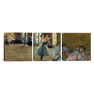 iCanvas Edgar Degas Dancers 3 Piece on Wrapped Canvas Set; 24'' H x 72'' W x 1.5'' D