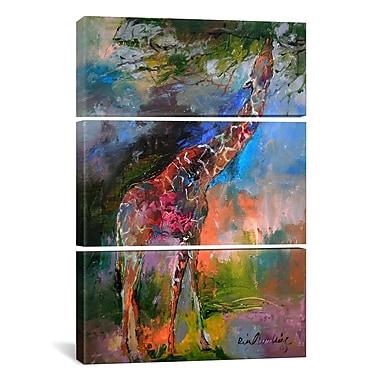 iCanvas Richard Wallich Giraffe 3 Piece on Wrapped Canvas Set; 60'' H x 40'' W x 1.5'' D