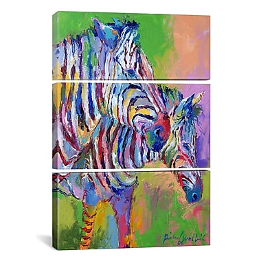 iCanvas Richard Wallich Zebra Print Multi-Piece Image on Wrapped Canvas; 90'' H x 60'' W x 1.5'' D